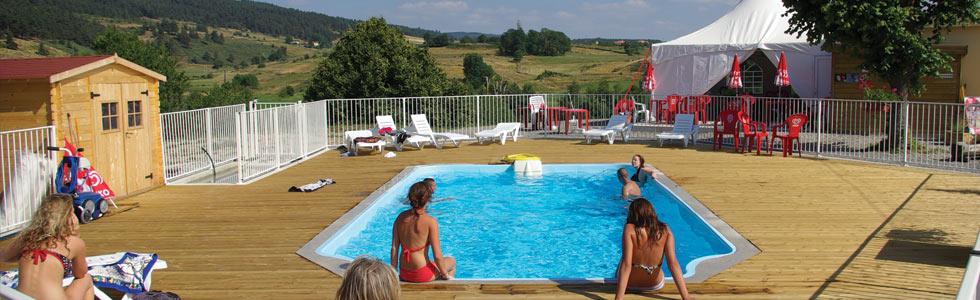 Camping de langogne mobil homes caravanes tente snack bar la cigale de l 39 allier loz re for Camping allier avec piscine